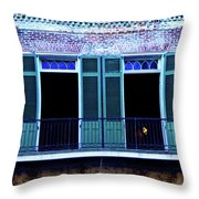 Four Balcony Windows Throw Pillow