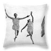 Four Dancers Leaping Throw Pillow