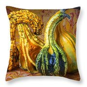 Four Gourds Throw Pillow