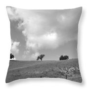Four On The Hill Throw Pillow