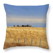 Four Outbuildings In The Field Throw Pillow