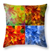 Four Seasons In Abstract Throw Pillow