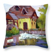 Fourge Mill Giverny Throw Pillow