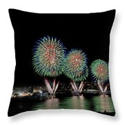 Fourt Of July In Nyc Throw Pillow