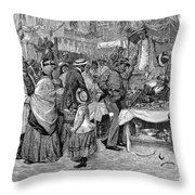 Fourth Of July, 1888 Throw Pillow