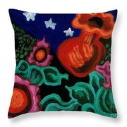 Fowers At Night Throw Pillow