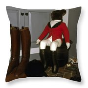 Fox Hunt Decorations Throw Pillow