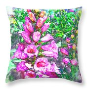Foxglove Floral Throw Pillow