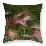 Foxtails Throw Pillow