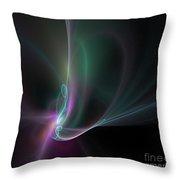 Fractal - 32 Multi Color Throw Pillow