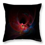 Fractal - Colorful Throw Pillow