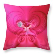 Fractal 30 Love Is In The Air Throw Pillow