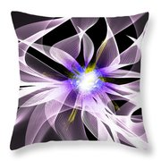 Fractal Flower . Dahlia Throw Pillow
