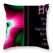 Fractal Hope Sirach 2 Throw Pillow by Rose Santuci-Sofranko