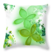 Fractal Spring Throw Pillow