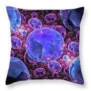 Fractals Jewels Throw Pillow