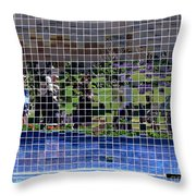 Fractured Image Throw Pillow