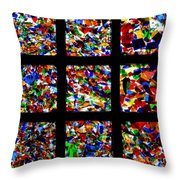 Fractured Squares Throw Pillow by Meandering Photography