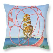 Fragmented Out Comings Throw Pillow