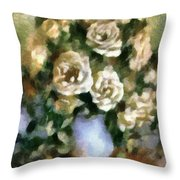 Fragrant Roses Throw Pillow