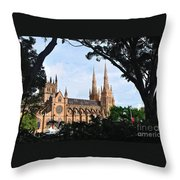 Framed Cathedral Throw Pillow