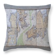 Framed Narragansett Bay Tile Set Throw Pillow