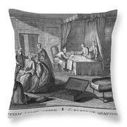 France: Baptism At Home Throw Pillow