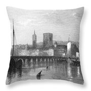 France: Beaugency Throw Pillow