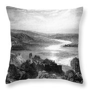 France: Chateau, 1853 Throw Pillow