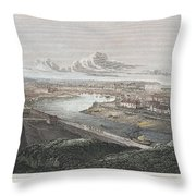 France: Dieppe, 1822 Throw Pillow