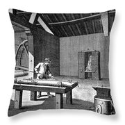 France: Iron Mill, C1750 Throw Pillow