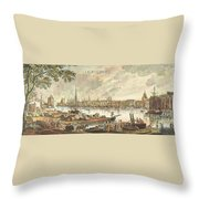 France: La Rochelle, 1762 Throw Pillow