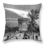 France: Meteor, 1868 Throw Pillow