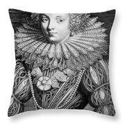 France: Noblewoman Throw Pillow
