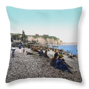 France: Resort, C1895 Throw Pillow