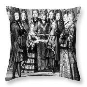 France: Royal Wedding Throw Pillow