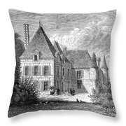 France: Wine Ch�teau, 1868 Throw Pillow