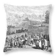 France: Wine Harvest, 1871 Throw Pillow