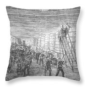 France: Winemaking, 1854 Throw Pillow