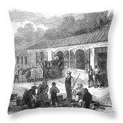 France: Winemaking, 1871 Throw Pillow by Granger
