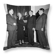 Frances P. Bolton (1885-1977) Throw Pillow