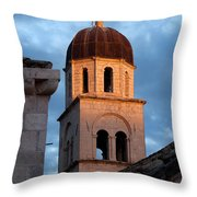 Franciscan Monastery Tower At Sunset Throw Pillow