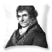 Francois Chaussier, French Physician Throw Pillow