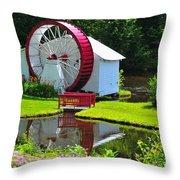 Franconia Notch Waterwheel Throw Pillow by Catherine Reusch Daley