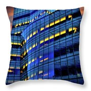 Frank Gehrys Iac Building Throw Pillow