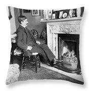 Frank Harris (1854-1931). American Writer Born In Galway, Ireland Throw Pillow