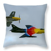 Frankie And Missie Throw Pillow by Gary Eason