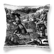 Franklin: Cartoon, 1764 Throw Pillow