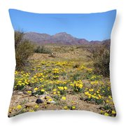 Franklin Mt. Poppies Throw Pillow