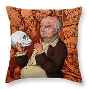 Franz Josef Gall, German Physiognomist Throw Pillow